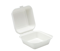 91022 - 7'' x 5''  Bagasse Clamshell  Box