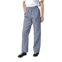 B311-L - Whites Unisex Vegas Chefs Trousers Small Blue and White Check - Size L
