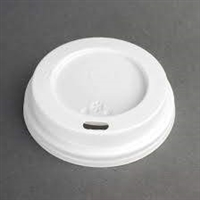 CE263 - Fiesta Disposable Coffee Cup Lids White 225ml / 8oz (Pack of 50)