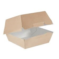 GE083 - Colpac Compostable Kraft Burger Boxes Large 135mm (Pack of 250)