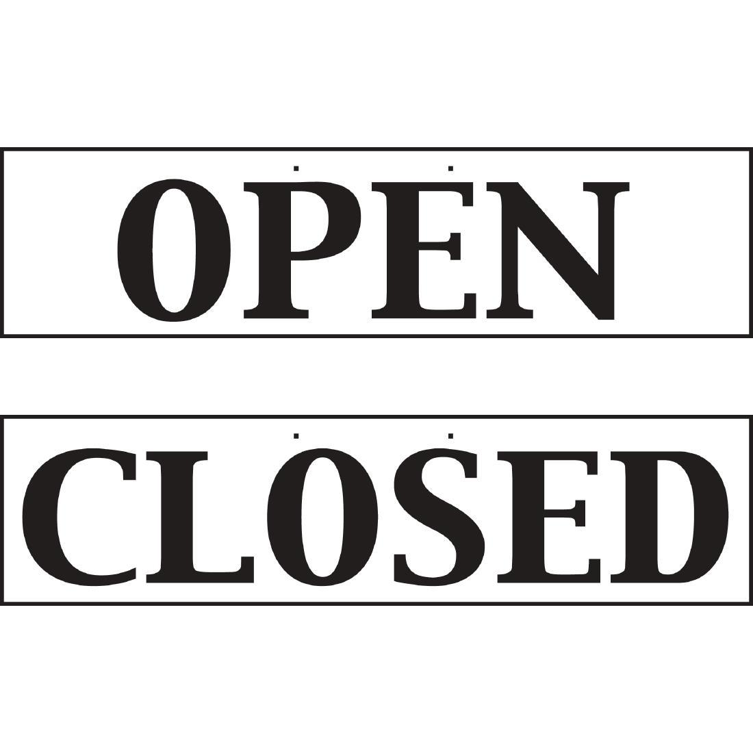 W212 - Open And Closed Sign - Reversible