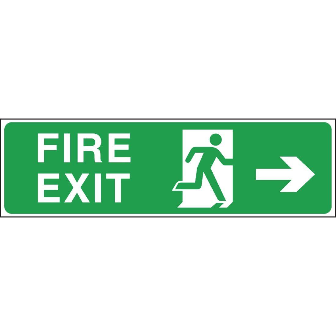 W302 - Fire Exit Arrow Right Sign