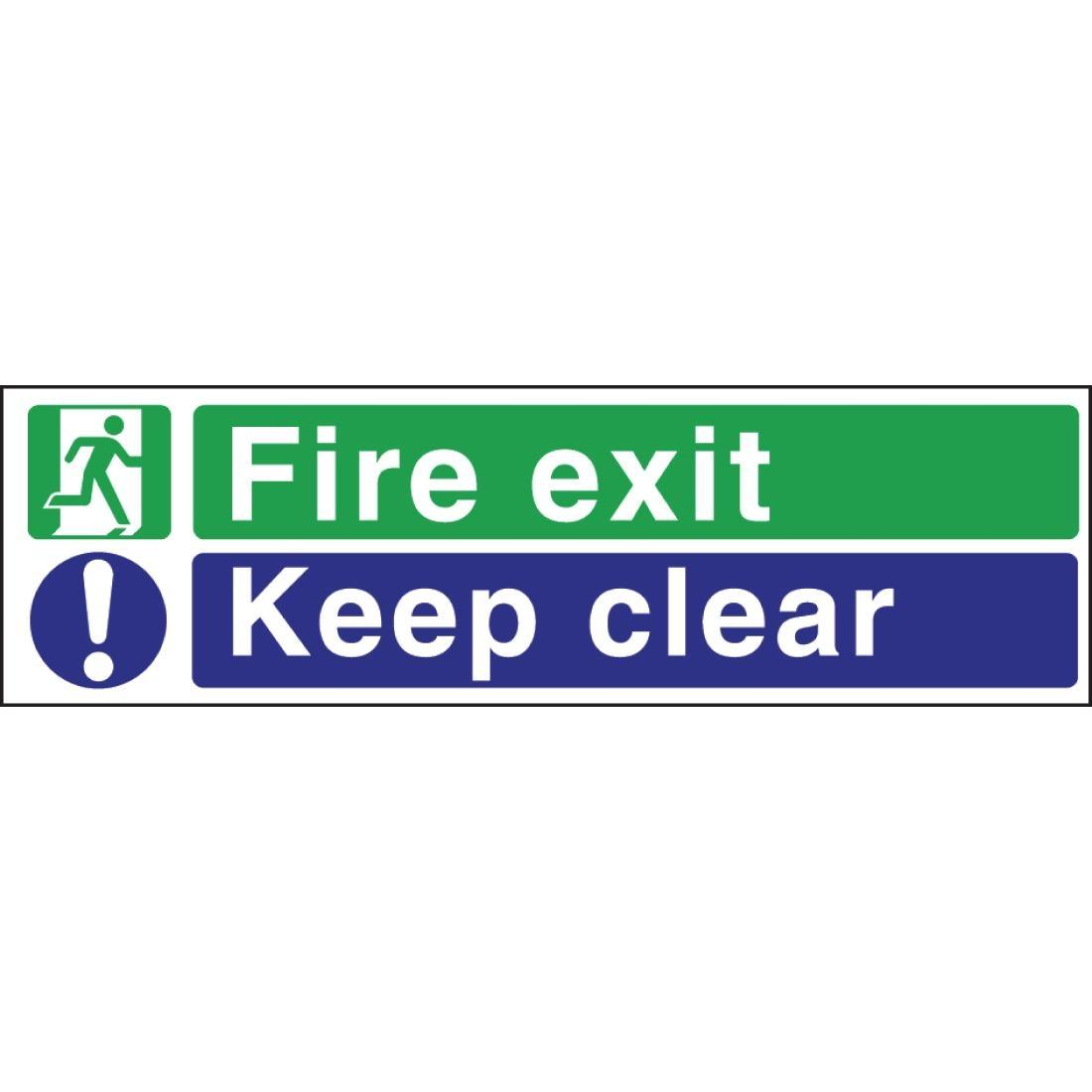 W311 - Fire Exit Keep Clear Sign