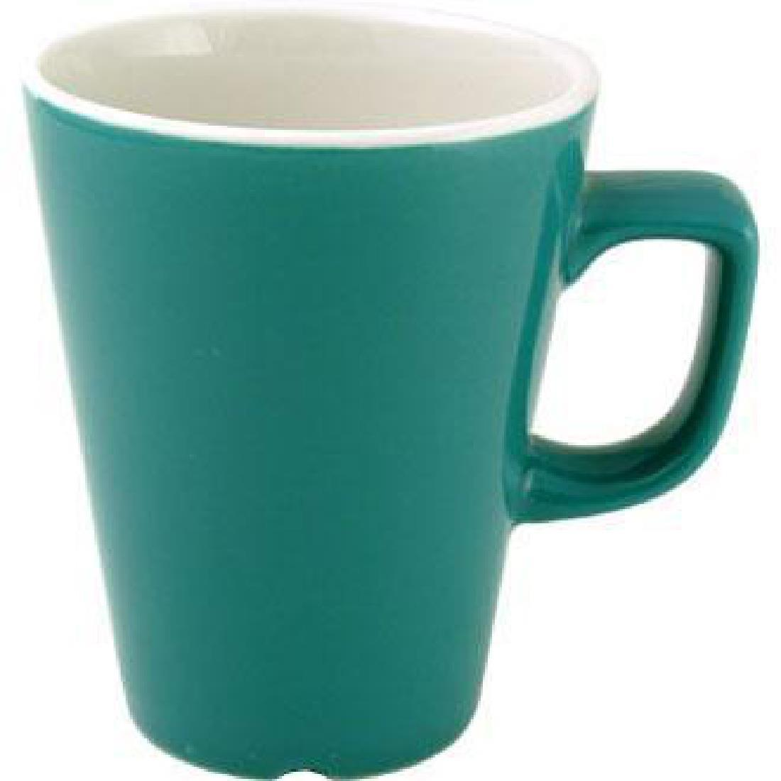W893 - New Horizons Solid Colour Glaze Cafe Late Mug