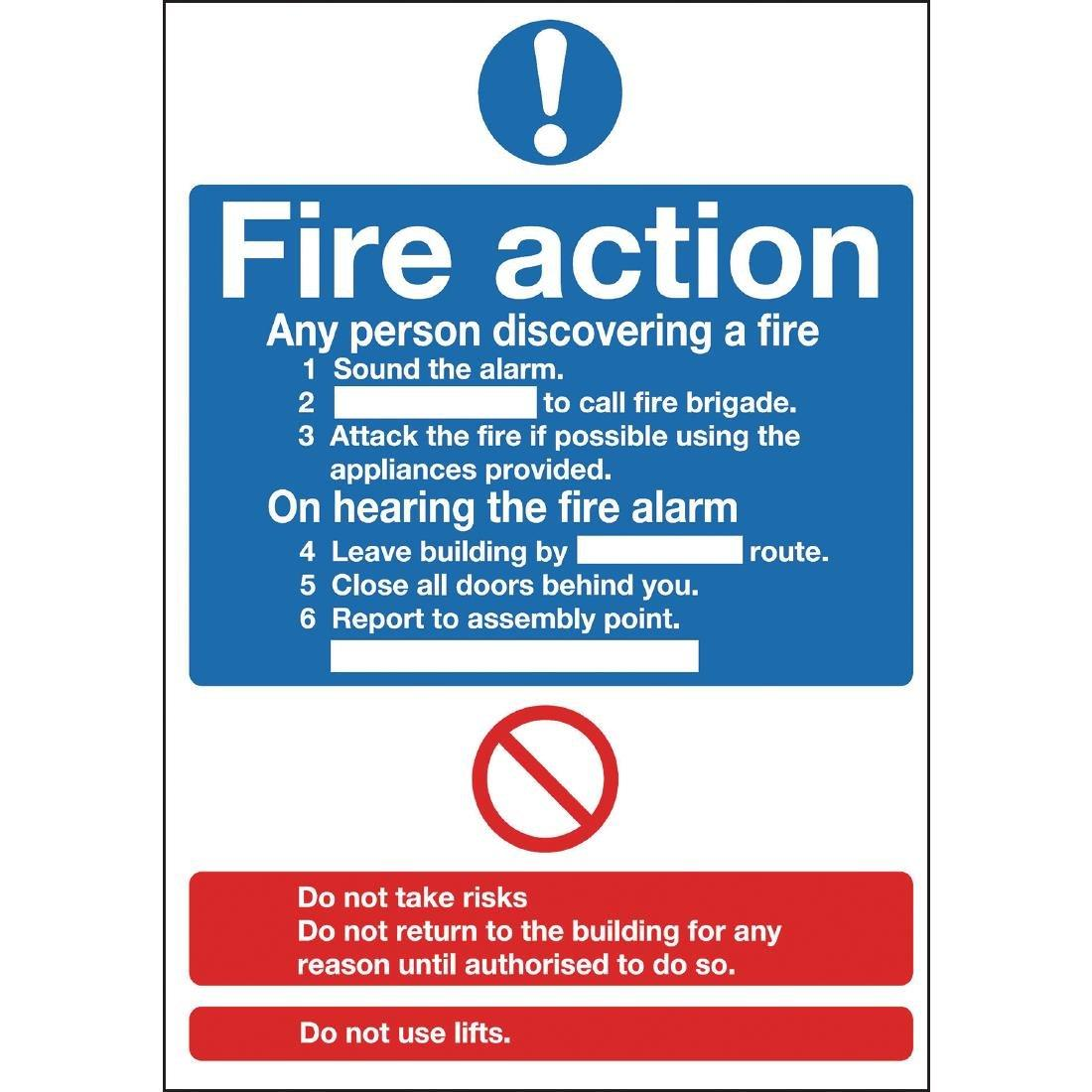 Y920 - Fire Action Sign