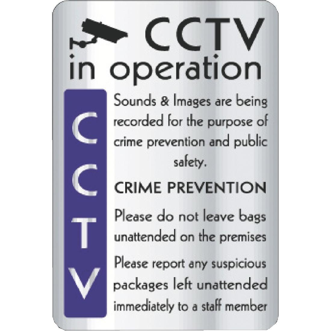 Y928 - CCTV In Operation Crime Prevention Sign